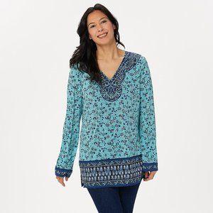 Floral Boho Print Knit Top